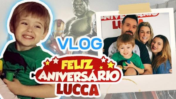 Lucca faz 4 anos e comemora com os Avengers